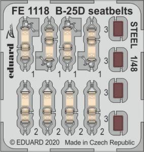 B-25D Mitchell - Seatbelts STEEL [Revell] · EDU FE1118 ·  Eduard · 1:48