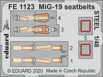 MiG-19 - Seatbelts STEEL [Trumpeter] · EDU FE1123 ·  Eduard · 1:48