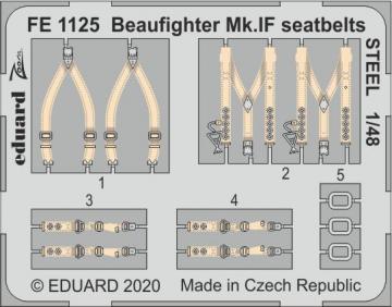 Beaufighter Mk.IF - Seatbelts STEEL [Revell] · EDU FE1125 ·  Eduard · 1:48