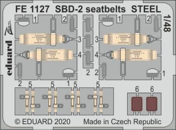 SBD-2 - Seatbelts STEEL [Academy] · EDU FE1127 ·  Eduard · 1:48