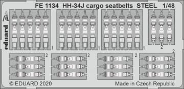 HH-34J - Cargo seatbelts STEEL [Trumpeter] · EDU FE1134 ·  Eduard · 1:48