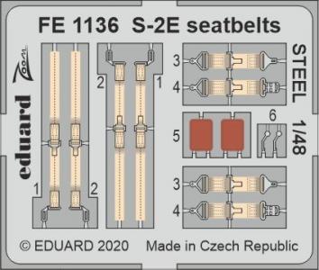 Grumman S-2E - Seatbelts STEEL [ Kinetic] · EDU FE1136 ·  Eduard · 1:48