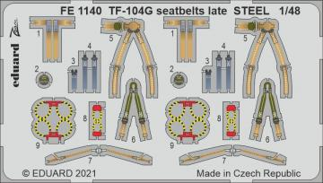TF-104G Starfighter -Seatbelts late STEEL [Kinetic Models] · EDU FE1140 ·  Eduard · 1:48