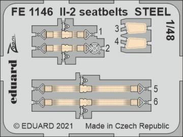 Il-2 Stormovik - Seatbelts STEEL [Zvezda] · EDU FE1146 ·  Eduard · 1:48