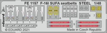 F-16I SUFA - Seatbelts STEEL [Kinetic] · EDU FE1157 ·  Eduard · 1:48