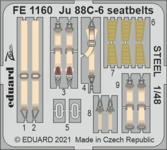 Junkers Ju 88C-6 - Seatbelts STEEL [ICM] · EDU FE1160 ·  Eduard · 1:48
