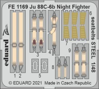 Junkers Ju 88 C-6b Night Fighter - Seatbelts STEEL [ICM] · EDU FE1169 ·  Eduard · 1:48