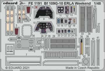 Messerschmitt Bf 109 G-10 ERLA - Weekend [Eduard] · EDU FE1191 ·  Eduard · 1:48
