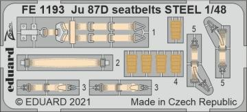 Junkers Ju 87D - Seatbelts STEEL [Hobby 2000] · EDU FE1193 ·  Eduard · 1:48