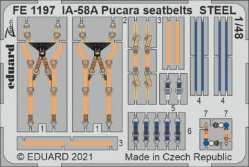 IA-58A Pucara - Seatbelts STEEL [Kinetic Models] · EDU FE1197 ·  Eduard · 1:48