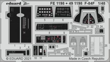 F-84F Thunderstreak [Kinetic Models] · EDU FE1198 ·  Eduard · 1:48