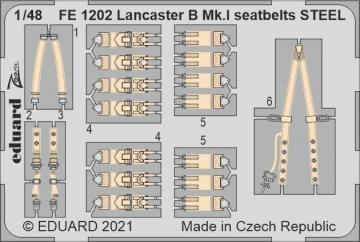 Lancaster B Mk.I - Seatbelts STEEL [HKM] · EDU FE1202 ·  Eduard · 1:48