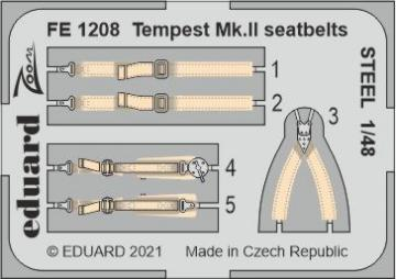 Tempest Mk.II - Seatbelts STEEL [Eduard/Special Hobby] · EDU FE1208 ·  Eduard · 1:48