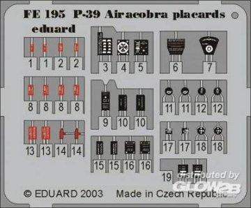 P-39 Airacobra - Placards · EDU FE195 ·  Eduard · 1:48