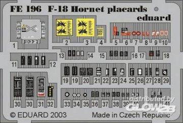 F-18 Hornet - Placards · EDU FE196 ·  Eduard · 1:48