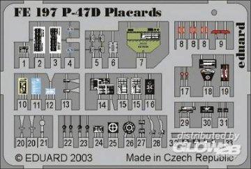 P-47D Thunderbolt - Placards · EDU FE197 ·  Eduard · 1:48