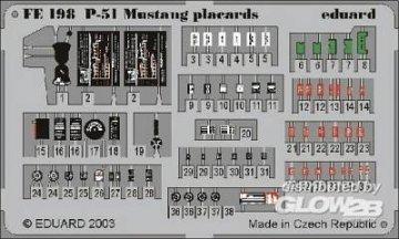 P-51 Mustang - Placards · EDU FE198 ·  Eduard · 1:48