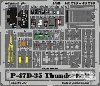 P-47D-25 Thunderbolt · EDU FE270 ·  Eduard · 1:48