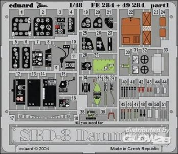 SBD-3 Dauntless · EDU FE284 ·  Eduard · 1:48