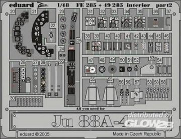Junkers Ju 88 A-4 - Interior · EDU FE285 ·  Eduard · 1:48