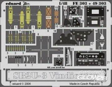 SB2U-3 Vindicator [Accurate Miniatures] · EDU FE303 ·  Eduard · 1:48
