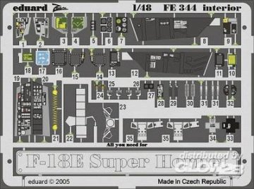 F-18E Super Hornet - Interior · EDU FE344 ·  Eduard · 1:48