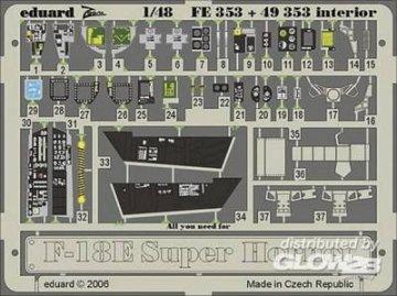 F-18E Super Hornet - Interior [Hasegawa]. · EDU FE353 ·  Eduard · 1:48