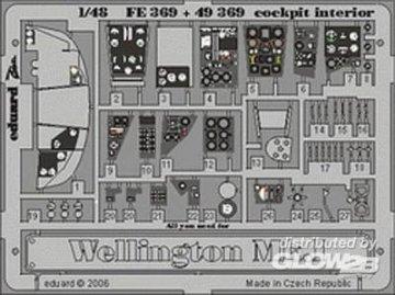 Wellington  Mk.I - Cockpit - Interior [Trumpeter] · EDU FE369 ·  Eduard · 1:48