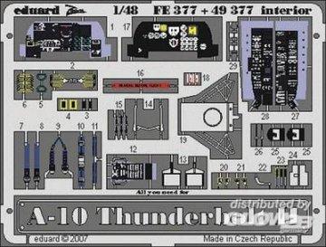 A-10 Thunderbolt II - Interior [Italeri] · EDU FE377 ·  Eduard · 1:48