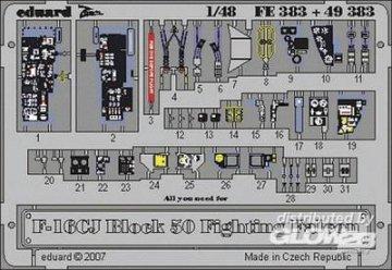 F-16CJ Block 50 Fighting Falcon, [Tamiya] · EDU FE383 ·  Eduard · 1:48