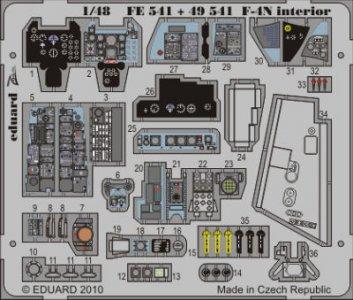 F-4N - Interior S.A. [Hasegawa] · EDU FE541 ·  Eduard · 1:48