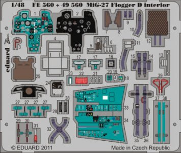 MiG-27 Flogger D - Interior S.A. [Italeri] · EDU FE560 ·  Eduard · 1:48