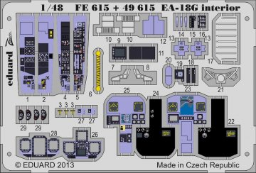 EA-18G - Interior S.A. [Italeri] · EDU FE615 ·  Eduard · 1:48