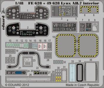 Lynx AH.7 - Interior S.A. [Airfix] · EDU FE628 ·  Eduard · 1:48