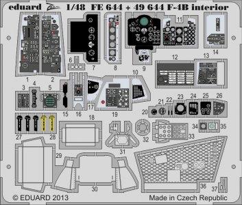 Phantom F-4B - Interior S.A. [Academy] · EDU FE644 ·  Eduard · 1:48