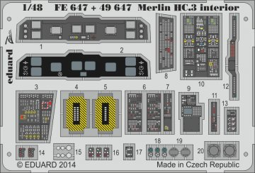 Merlin HC.3 - Interior [Airfix] · EDU FE647 ·  Eduard · 1:48