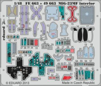 MiG-23MF interior S.A. [Trumpeter] · EDU FE663 ·  Eduard · 1:48