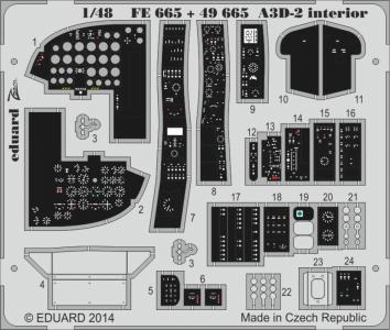A3D-2 - Interior S.A. [Trumpeter] · EDU FE665 ·  Eduard · 1:48