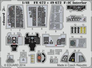 F-4C Phantom - Interior [Academy] · EDU FE672 ·  Eduard · 1:48