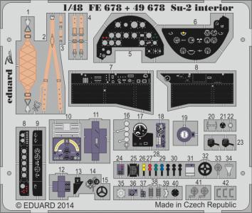 Su-2 - Interior S.A. [Zvezda] · EDU FE678 ·  Eduard · 1:48