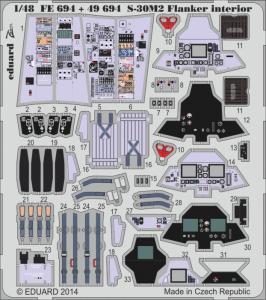 S-30M-2 Flanker - Interior S.A. [Academy] · EDU FE694 ·  Eduard · 1:48
