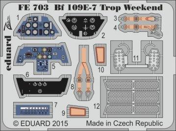 Bf 109E-7 Trop - Weekend Edition [Eduard] · EDU FE703 ·  Eduard · 1:48