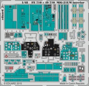 MiG-21UM - Interior S.A. [Trumpeter] · EDU FE710 ·  Eduard · 1:48