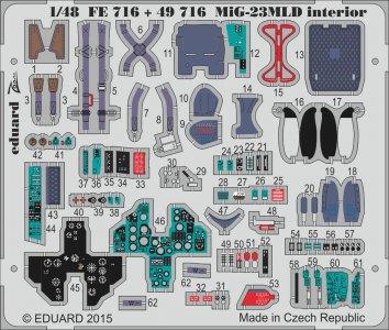 MiG-23MLD - Interior [Trumpeter] · EDU FE716 ·  Eduard · 1:48