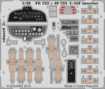 Beechcraft C45F / UC45F - Interior [ICM] · EDU FE722 ·  Eduard · 1:48