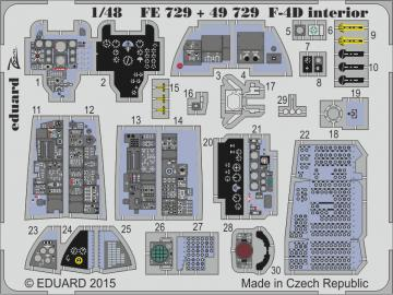 ROKAF Phantom F-4D - Interior S.A. [Academy] · EDU FE729 ·  Eduard · 1:48