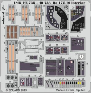 Dornier DO 17 Z-10 - Interior [ICM] · EDU FE738 ·  Eduard · 1:48