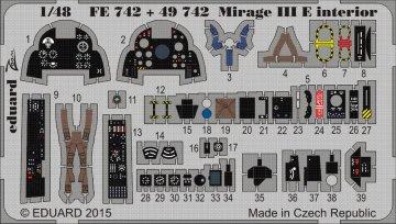 Mirage III E - Interior [Kinetic] · EDU FE742 ·  Eduard · 1:48