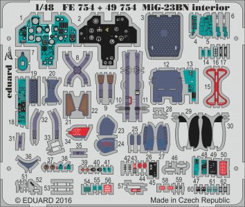 MiG-23Bn Flogger H [Trumpeter] · EDU FE754 ·  Eduard · 1:48