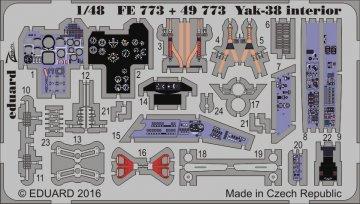 Yak-38 Forger - interior [HobbyBoss] · EDU FE773 ·  Eduard · 1:48